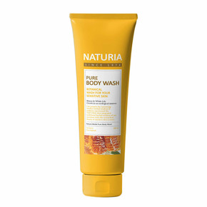 Гель для душа Мед - лилия / NATURIA PURE BODY WASH, Honey & White Lily 100 мл